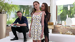 Amirah Adara and Lena Reif taboo anal threeway with lots of ass-to-mouth fellatio