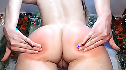 500 spanks on each cheek! Her ass ends up searing crimson