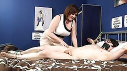 Mature suits her thirst for cock in kinky femdom CFNM