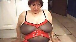 Hot French BBW Granny Olga