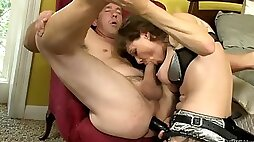 His Wife Plugs His Butt And Sucks Him