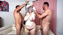 Bbw milf threesome gangbang