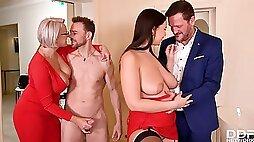 Angel Wicky & Sofia Lee - Wild Orgy Intercourse
