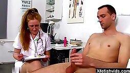 Hot mature nurse prostate check