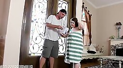 Anal Delivery for young chubby bitch Savana Blue - hardcore with cumshot