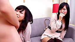 Subtitled CFNM chinese buddy observes surprise blowjob
