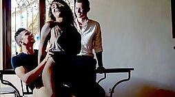 Latina wife cuckolds her voyeurist husband