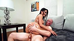 Charming Lela Star in oil has passionate sex and gets a load on her ass