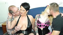 AMATEUR EURO -German Swinger Couples Have Dirty Foursome Sex