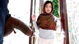 Hijab teen getting some black dick