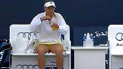 Upskirt Caroline Wozniacki