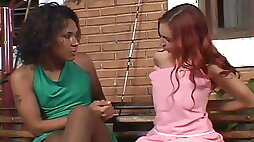 Girl in pantyhose fuck with shemale