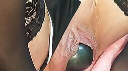 Extreme cervix play and double fisting
