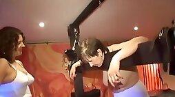 Yorkshire dungeon Mistress Kelly (39) humiliates Alison (49) bondage 2007