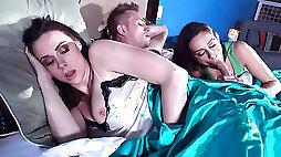 Cassidy Klein sucking Bills dick while his wife Chanel Preston is sleeping