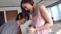 Big titted japanese wifey fucks