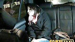 FakeTaxi - Cute barmaid suck taxi male stick