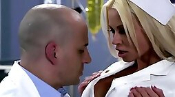 Amazing nurse is having sex with this naughty doctor