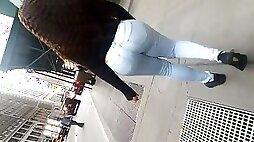 Ghetto Milf Bubble Butt In Tight Jeans.mp4