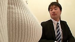 Japanese cutie with amazing huge Asian boobs gets dicked - fetish