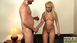 Pounded submissive pisses