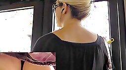 Hawt mother id like to fuck upskirt on a bus