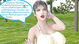 3 dimensional Comic: cuckold wife Gets Dirty With Her Boss On Her Anniversary