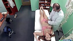 Medical exam turns into fucking on the hospital bed with a cute patient