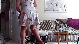 Housewife Milf Mature Mom Mum Upskirt - Hacked IP Camera