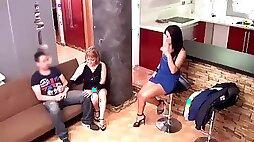 Delia rosa and jazmina vulcan, real spanish mother and daughter again hidden cam