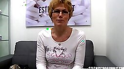Czech goddess sucks a big dick and squirts