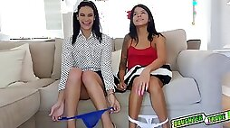 Small tits teen spread her legs wide - Eden Sinclair deepthroated and fucked