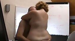 Mature British chick gets fucked hard in the office