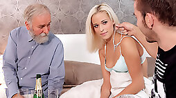 DADDY4K. Unexpected sex with a gf of his son