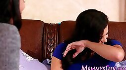 Mexican stepmom licked