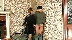 Stockings Mature with her step son