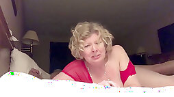 Older slut wifey smashed from behind cum a lot