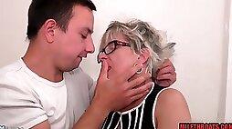 Horny pervert and lustful grandma