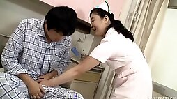 Banging a mature nurse from Japan who enjoys every second of it