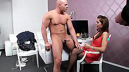 Buff stud Peter bangs horny female agent