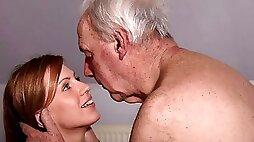 Lusty hottie with big boobs Olga Bartz is jumping on a pretty big dick