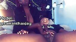 Big Titty Ebony Pays The Plug With A Nice Milking