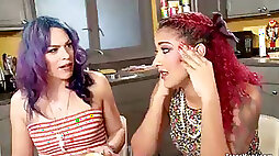 Transgender princess housewife penetrates ebony bff
