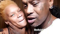 Married black couple in first homemade video ever - big black tits
