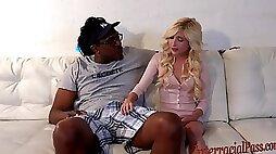 Ayntritli 80lb blonde takes on 12 inch biggest black cock!