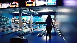 Remote vibrator in bowling with buddies - letty ebony