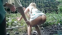 Drunk girls piss on public