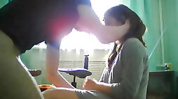 Shy girlfriend fucked infront of cam