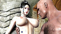 Animated fat titties Gets wedged by Huge Dick