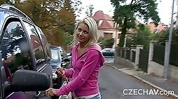 Submissive Czech thot gets her pink pussy plowed in a thrilling vid